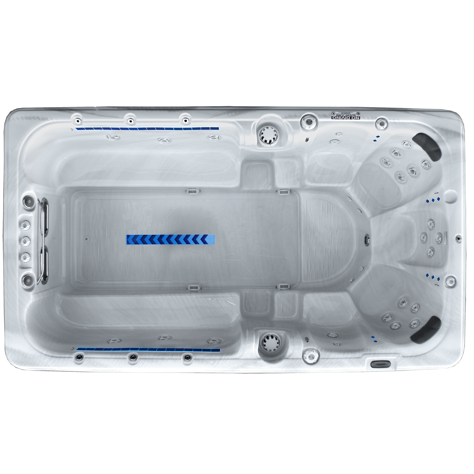 mp pro 13000 swim spa top view