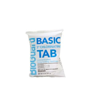 bioguard basic 3 inch chlorinating tablet front view