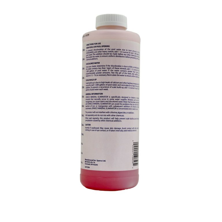 Mineral Eliminator back label
