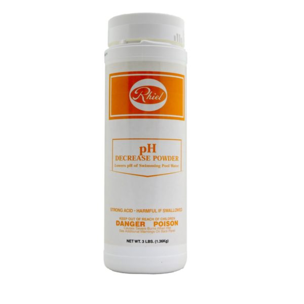 pH decrease powder 3lbs front view