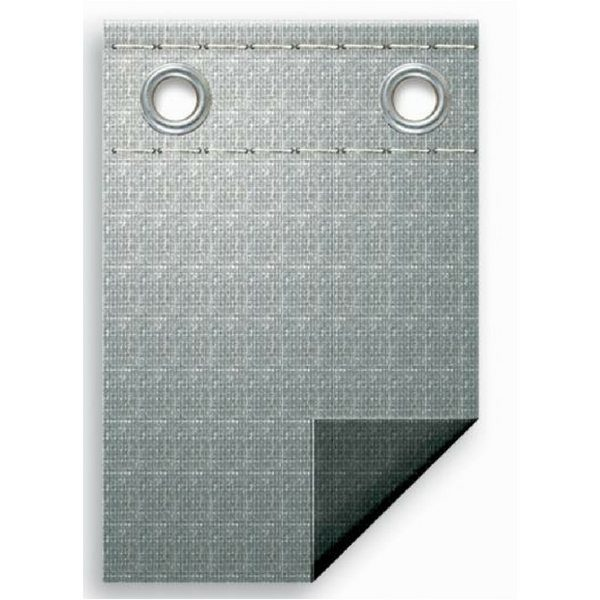 silver top and black bottom winter cover