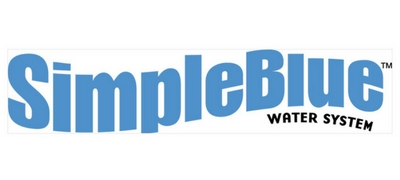 simple blue water system banner