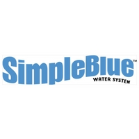 simple blue water system logo