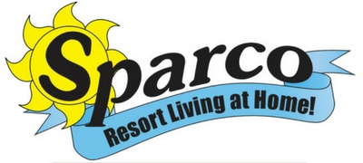 sparco pool and spa banner