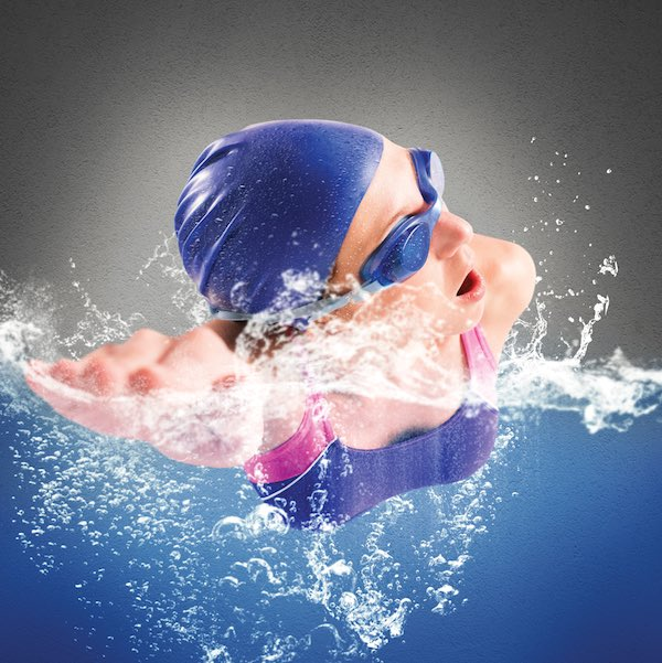 person swimming for exercise